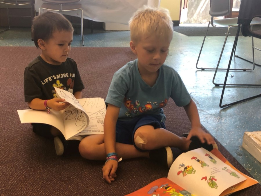 Read Together tutoring session